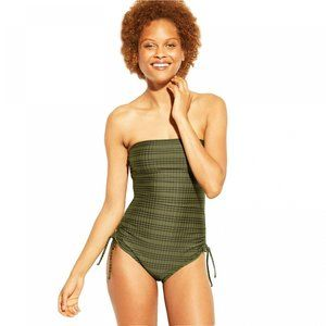 NWT Kona Sol One Piece Swimsuit Small Moss Green